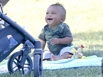 Saint West -- Laughing His Diapers Off (PHOTO GALLERY)