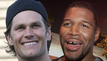 Tom Brady and Michael Strahan -- We're Teammates Now ... Co-Producing TV Show