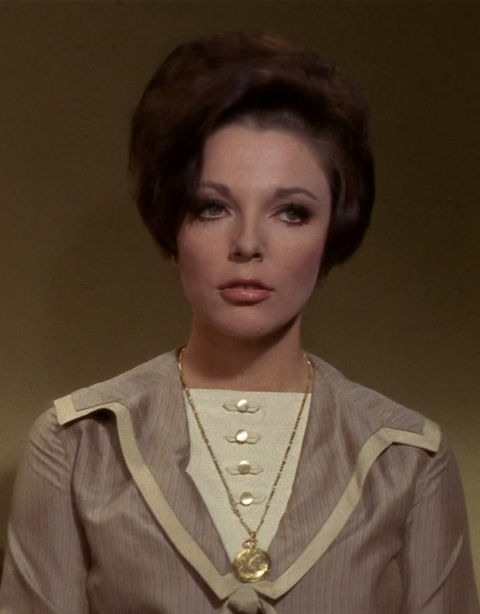 "Joan Collins as ""Sister Edith Keeler."""