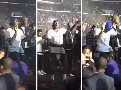 LeBron James -- MVP Level Turn Up ... At Drake Concert (VIDEO)