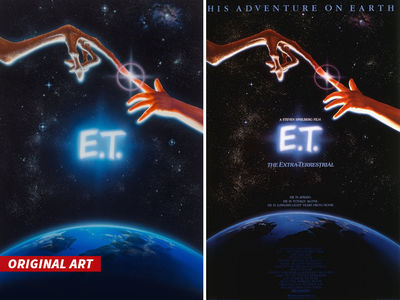'E.T.' -- Original Movie Poster Art Going for SIX Figures! (PHOTOS)
