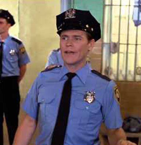 Willem Dafoe as one of the prison guards.