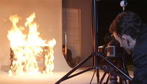Tyler Shields -- Burns $15k Louis Vuitton Trunk Just for the Art of It (VIDEO + PHOTO)