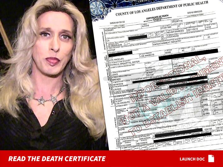 Alexis Arquette Battled Hiv For 29 Years Tmz Com
