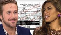 Eva Mendes, Ryan Gosling -- Top Secret Birth ... We Already Had Our Baby!!!