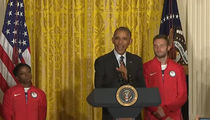 President Obama -- Crackin' Jokes with US Olympians ... I Don't Want 'Phelps Face' (VIDEO)
