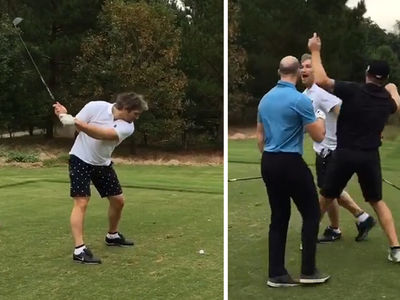 Alex Ovechkin -- Rivals Charles Barkley ... With God Awful Golf Swing (VIDEO)