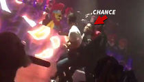 Chance The Rapper -- Forget Security ... I'll Slam that Stage Crasher!!! (VIDEO)