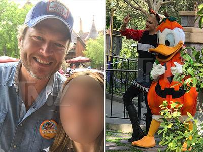 Blake Shelton & Gwen Stefani -- First Disneyland Visit Is Family Affair (PHOTOS)
