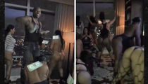 Floyd Mayweather -- So Much Money, So Many Strippers ... Private Hotel Twerkfest (VIDEOS)