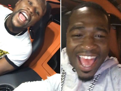Floyd Mayweather -- Adrien Broner's Bunkin' With Me ... 'Til He Feels Better (VIDEO)