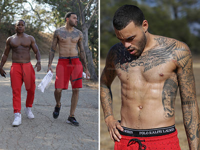 Don Benjamin & Sam Jones III -- Shirts Off ... Bro Workout On (PHOTO GALLERY)