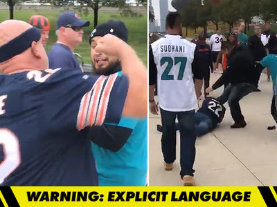 Chicago Bears Fan -- Attacks Jags Fan After Game ... Beatdown Ensues (VIDEO)
