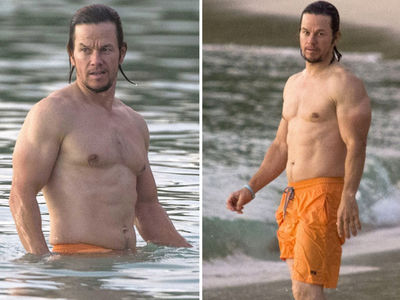Mark Wahlberg -- Muscle Beach Down in Barbados (PHOTO GALLERY)