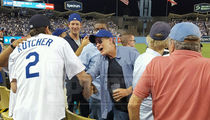 Charlie Sheen & Ashton Kutcher -- Back On the Same Team ... Bro Out At Dodgers Game (PHOTO GALLERY)