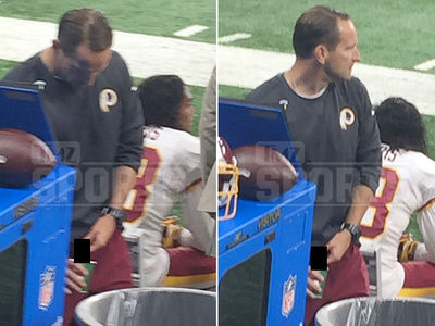 Redskins Asst. Coach -- Pees In Gatorade Cup On Sideline ... Fan Takes Pics (PHOTO)