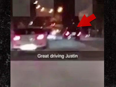 Justin Bieber -- SUV Convoy in Erratic, Wrong-Way Driving Escapade (VIDEO)