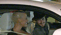 Amber Rose -- New Guy Spinning Her New Wheels ... Can't Work the Doors (VIDEO)