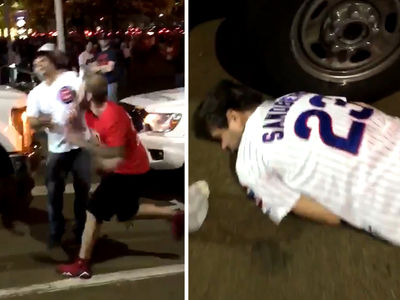 Chicago Cubs Fan -- KNOCKED THE HELL OUT in World Series Street Fight (VIDEO + VICTIM PHOTO UPDATE)