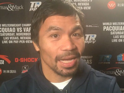 Manny Pacquiao -- I Dropped $1 MILLION on Tix to Vargas Fight ... for Friends and Family (VIDEO)