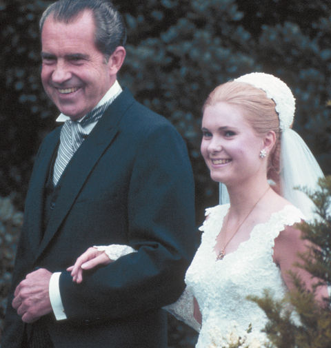 Tricia Nixon is President Richard Nixon's eldest of two daughters who famously married Edward Cox in the White House Rose Garden in the Middle of Nixon's first term as President.