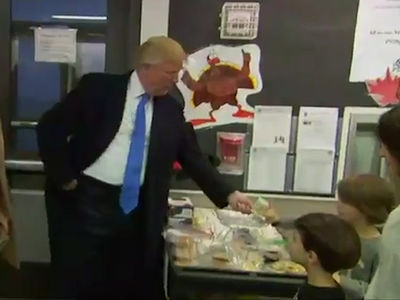 Donald Trump -- I'm Here To Vote and Spread the Wealth ... Keep the Change (VIDEO)