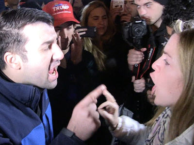 Trump Fan vs. Hillary Fan -- Blast Each Other Before Cops Step In (VIDEO)