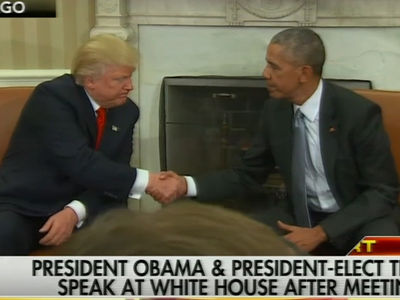 Obama & Trump -- Good First Meeting ... If Trump Succeeds, We All Succeed (VIDEO)