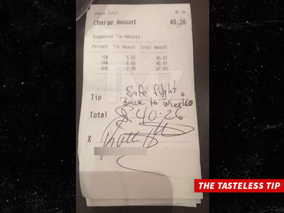 Racist Pigs at Famous BBQ Joint -- Hey Waitress, Go Back To Mexico (PHOTO)
