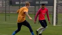 Justin Bieber -- BALLIN' OUT WITH NEYMAR ... Penalty Shootout! (VIDEO + PHOTO)