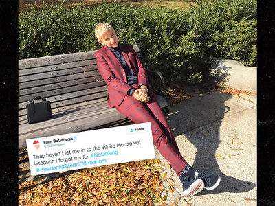 Ellen DeGeneres -- Oops, No ID ... Still Wriggles into White House for Medal (PHOTOS + VIDEO)