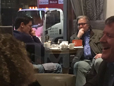 Mark Cuban -- Talking Trump with Controversial Adviser Stephen Bannon (PHOTO)