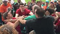 Miami Dolphins -- Scumbag Fans Brawl ... Attack Grandpa In Front Of Grandkids (VIDEO)