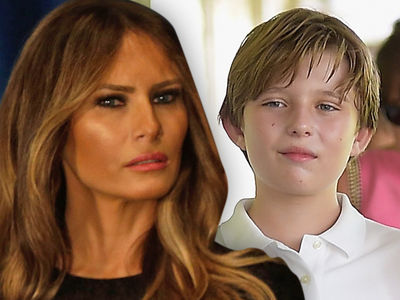 Melania & Barron Trump -- YouTuber Cashes in With Apology