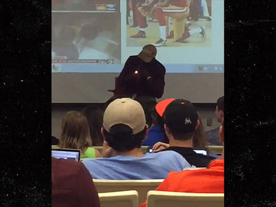 Chad Johnson -- Call Me Professor Stogie ... Lights Up Cigar During College Lecture (VIDEO)