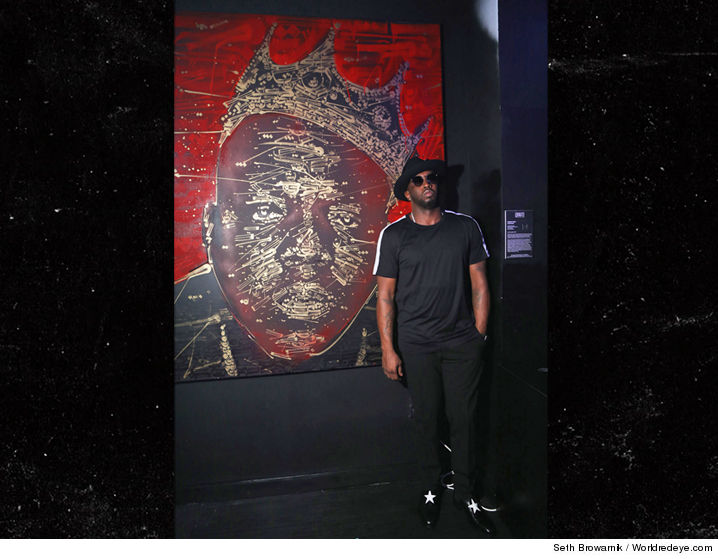 Diddys Down In Miami For Art Basel This Week And Already Looking To Expand His Collection With A Notorious BIG Painting Worth Around 20k