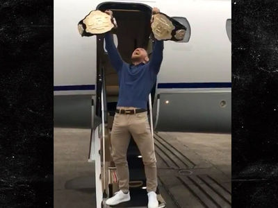 Conor McGregor -- See These Belts? YOU'LL NEVER TAKE THEM FROM ME! (VIDEO)