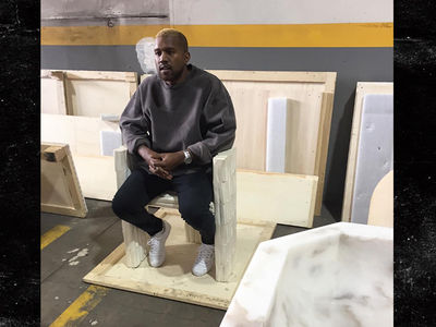 Kanye West -- Surfaces After Breakdown ... at Art Installation (PHOTO)