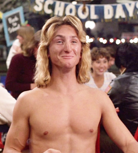 "Sean Penn as ""Jeff Spicoli."""
