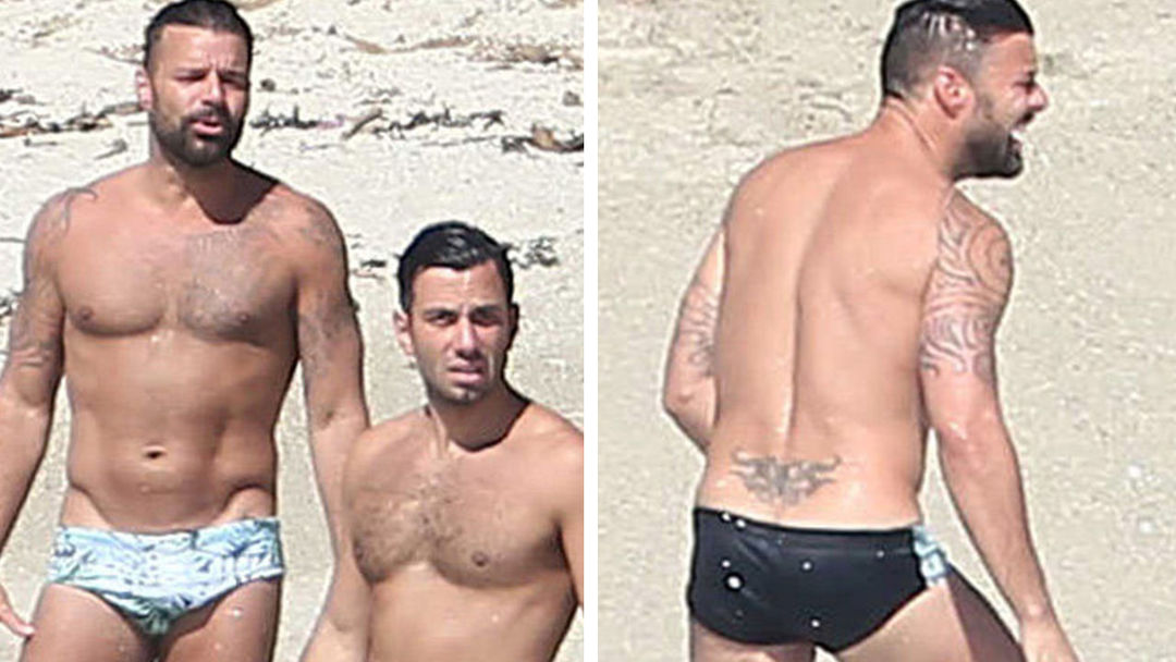 Ricky martin naked on the beach 12