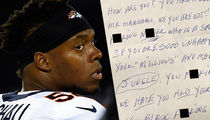 NFL's Brandon Marshall Reveals Racist Hate Mail (PHOTOS)