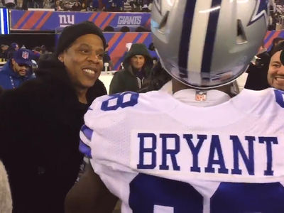 Jay Z's Pep Talk To Dez Bryant Proves Ineffective In Loss To Giants (VIDEO)