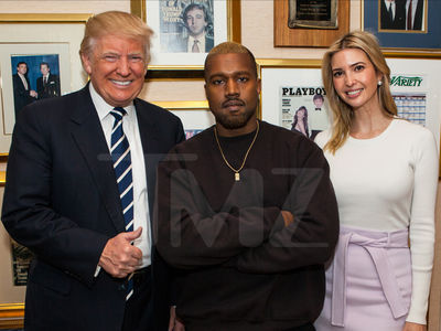 Donald Trump and Kanye West Chitchatting About 'Life' (PHOTO)