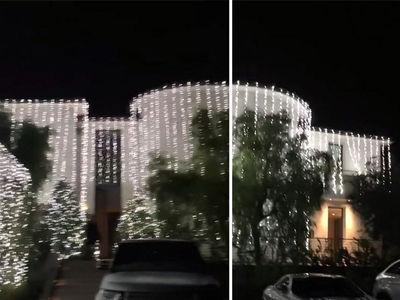 Check Out Kim and Kanye's INSANE Christmas Lights
