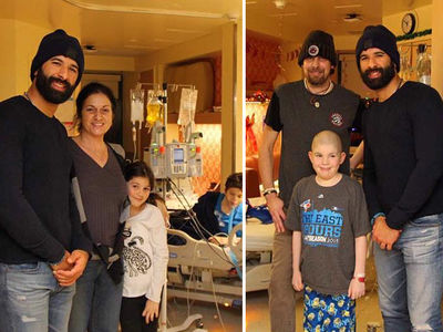 Jose Bautista Crashes Children's Hospital In Toronto (PHOTOS)
