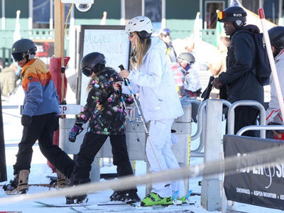 Heidi Klum & Seal Co-Parent on Aspen Mountain (PHOTO GALLERY)