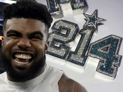 Ezekiel Elliott's Xmas Gift to Dak Prescott ... DIAMONDS, BABY! (Video)