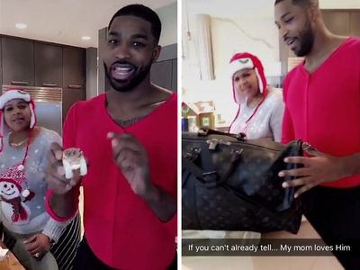 Kris Jenner Runs Full-Court Press On Tristan Thompson (VIDEO + PHOTO)