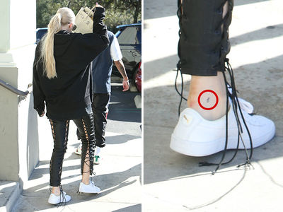 Kylie Jenner Gets a 'T' Tattoo on Left Ankle for Tyga (PHOTO)