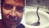 Country Star Brett Eldredge Finds a Snake in His Toilet!! (VIDEO)